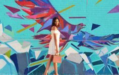 Dallas Mural Guide: Most Insta-Worthy Dallas Murals Mural Art, Murals, Boy Maternity Photos, Texas Travel, Photo Location, Birthday Photos, Great Photos, Senior Pictures, Photography Poses