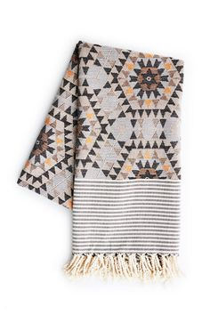 Holly's House - Aztec Blanket in Grey