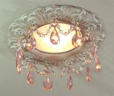 Recessed Lighting from Beaux-Artes, Model: Florentine Recessed Chandelier Shabby Chic Français, Muebles Shabby Chic, Shabby Chic Kitchen, Shabby Cottage, Shabby Chic Furniture, Cottage Chic, Fru Fru, Fuchsia, Chandeliers