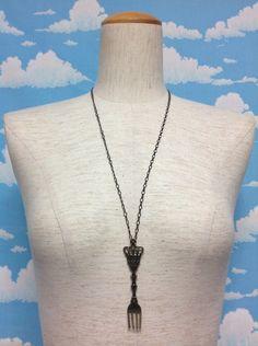 Antique Cutlery Necklace in Antique Gold from Innocent World - Lolita Desu