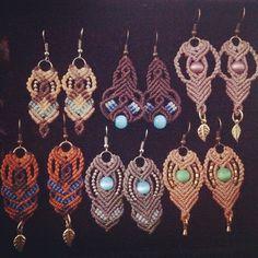 #earrings #micromacrame #nosmagicos #meditarte #freehand #bohostyle #acessorios  #lovemacrame #artesanato #compredequemfaz (: