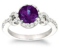 Chatham 14K White Gold Alexandrite Engagement Ring