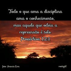 #Provérbios #Sabedoria #Disciplina #Conhecimento #DeusRepreendeQuemEleAma #DeusFiel #rosiigiil