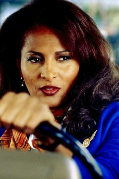 "Pam Grier as ""Jackie Brown"". Directed by Quentin Tarantino."