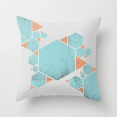 Buy Confidence Throw Pillow by xiari. Worldwide shipping available at Society6.com. orange, blue, pop, light, limpet shell, texture, gray, hex, hexagon, hexagons, triangle, triangles, geometry , happy ,confidence, psychology, geometric, abstract, pattern, free, freedom , vintage, color, joy, wisdom, energy, internal, connection, yoga, balance, asymmetry , pillow, throw, interior design, design, interiors, home decor, home