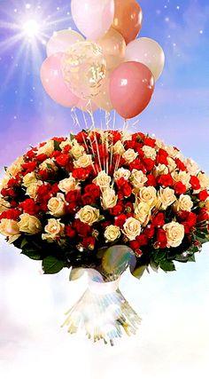 Happy Birthday Bouquet, Birthday Wishes Flowers, Happy Birthday Wishes Quotes, Birthday Blessings, Happy Birthday Greetings, Good Morning Flowers Pictures, Flower Pictures, Flower Art Drawing, Corporate Flowers