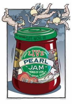 Pearl Jam Concert Poster at the Acer Arena- Sydney, Australia Nov 18, 2006 #8 of a series of 12 Australian Concert Posters Limited Edition that sold out instantly at the Venue poster measures 19 inches x 28 inches Artist: Daymon Greulich