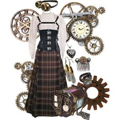 Watch Maker by salemrainbows on Polyvore featuring moda, Dora Mojzes, Universal Lighting and Decor and steampunk