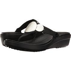 bdb37a06642251 Crocs Sanrah Embellished Wedge Flip