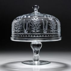 "Portia Cake Stand & Dome  - 30cm/12"" from William Yeoward Crystal"