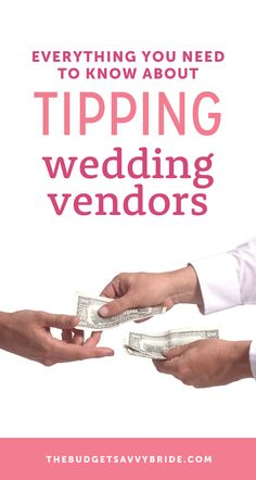 The Ultimate Guide to Tipping Wedding Vendors by Budget Savvy Bride Wedding Tips For Vendors, Wedding Etiquette, Wedding Planning Tips, Budget Wedding, Wedding Ideas, Wedding Inspiration, Wedding Catering, Wedding Coordinator, Hire A Band