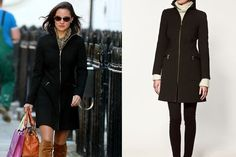 Pippa Middleton wearinf a ZARA Basic coat from FW 2011