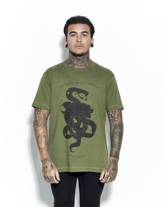 Beware Of The Snakes T-Shirt Forest Green