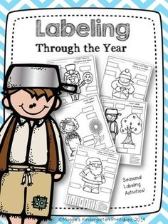 This is a collection of labeling activities that hit on months and seasonal themes through the year.  Just print, add glue and scissors and your word work center is ready!