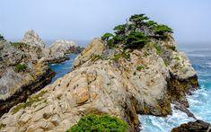 Download wallpapers rocky coast, sea, waves, rocks, seascape, morning, storm