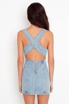 jean dress i like but it needs like 5 inches added to it