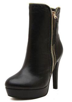 Black Platform Boots #heels #boots #shoes