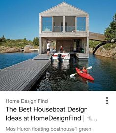 Make It Float!On The Edge Of A Tiny Island On Lake Huron, Accessible Only  By Boat, This Buoyant Summer Home Lives The Life Aquatic. Awesome Design