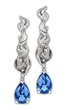 Earrings couple AR Yellow Gold diamonds and amethist Diamond Image, Cute Jewelry, Unique Jewelry, Titanic Jewelry, Fantasy Jewelry, Gemstone Jewelry, Jewelry Collection, Jewelery, Amethyst