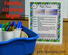 Family Literacy Night Printable Kit for #preschool #kindergarten