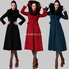 JLo Women&39s Black Long Military Wool Coat by J Lo   Coats Wool