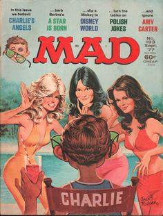 MAD MAGAZINE CHARLIE'S ANGELS SEPTEMBER 1977