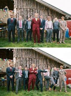 Lisa and Tom's Rainbow Themed Cowshed Festival Wedding
