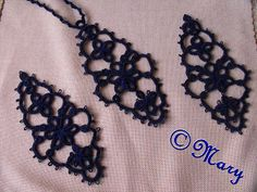 Mary handmade: Set earrings and necklace tatting