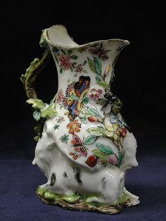 Jug, Cream, English, c. 1745, soft-paste porcelain