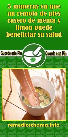 5 maneras en que un remojo de pies casero de menta y limón puede beneficiar su salud. #salud #pies #remedio