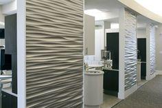 Nate Lewis Dental Office, Pattern: Ondata, Finish: Shimmer 3DL.  Christie Lewis Interiors