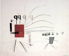 Ken Garland, Monoprint of rules, type and assorted blocks No2, made on platen press, 1952-1954