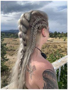 Braided Hairstyles, Wedding Hairstyles, Cool Hairstyles, Viking Hairstyles, Fantasy Hairstyles, Men's Hairstyle, Medium Hairstyles, Vikings Hair, Viking Aesthetic