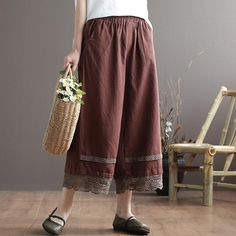 Wide Leg Linen Pants, Spring And Fall, Vintage Colors, Holiday Fashion, Going Out, How To Look Better, Thighs, Pants For Women