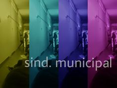 Entrada antigua al sind. municipal de Rosario, alegrándola con colores.