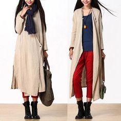Loose Fitting Long Linen Maxi Dress  Women Dress  by deboy2000, $89.00