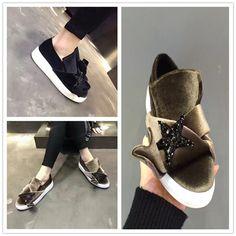 2016 New Casual Velvet Women S Shoes 2016 Winter New Waterproof Plush Flats  Slip On Thick Bottom 9579c161e0d1