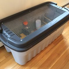 In preparation for my first flock of chicks I built this brooder. I had no idea what to expect or how fast they would grow but this was quite sufficient for the first 3 weeks. I searched for the …