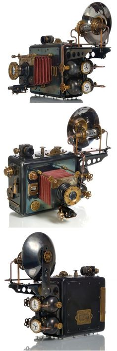 Wondering what is Steampunk? Visit our website for more information on the latest with photos and videos on Steampunk clothes, art, technology and more. Chat Steampunk, Lampe Steampunk, Design Steampunk, Mode Steampunk, Style Steampunk, Steampunk Gadgets, Steampunk House, Steampunk Wedding, Victorian Steampunk