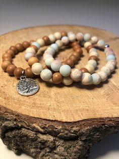 Ocean Imperial Jasper, African Opal and Sandalwood Jewelry Ideas, Jasper, Beading, Opal, Beaded Bracelets, African, Jewellery, Leather, Beads