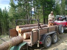 Fast Log loading rig on my trailer...under $1000 | Portable Sawmills & Forestry Equipment - Norwood Sawmills