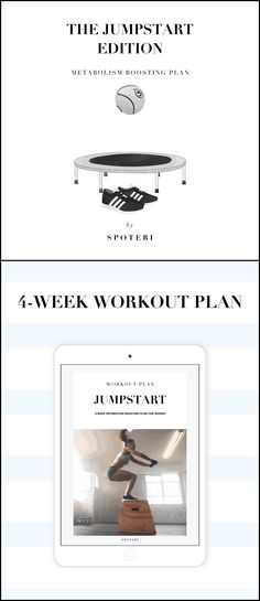Trick your body into burning calories more efficiently and stay energized all day, every day! Follow our 4-Week JumpStart Workout Plan if your goal is to speed up your metabolism and fire up your fitness journey. Get motivated and become a fat-burning machine!