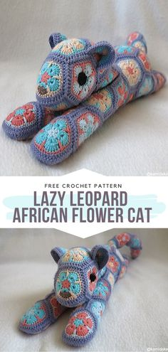 Lazy Leopard – African Flower Cat Free Crochet Pattern Wild cats and flowers. C… Lazy Leopard – African Flower Cat Free Crochet Pattern Wild cats and flowers. Can there be a more amazing combination. Crochet Whale, Crochet Fox, Crochet Penguin, Crochet Animal Amigurumi, Crochet Gratis, Crochet Motifs, Crochet Geek, Crochet Animal Patterns, Stuffed Animal Patterns
