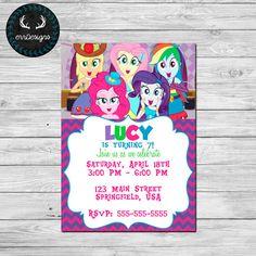Equestria Girls Invitation por ERRdesigns en Etsy