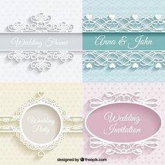 かわいい結婚式の装飾品 無料ベクター