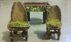 Faerie garden miniature dining room chairs by QtC