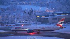 Snowy Blue-Hour Dusk Night | Night Planespotting | Zurich Airport Night Night, Blue Hour, Zurich, Olympus, Dusk, Aircraft, Aviation, Plane, Planes