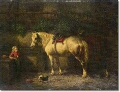 Willem Boogaard - In the Stable II Painting