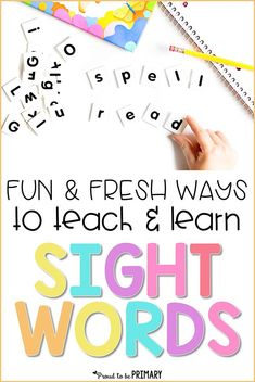 Looking for hands-on sight word learning ideas for the classroom? Find tons of fresh and fun ways to teach and learn sight words with young kids. Help preschool, Kindergarten, and primary children learn sight words and grab a FREE printable resource. #sightwords #sightwordactivities #teachingreading #earlyliteracy #wordwork