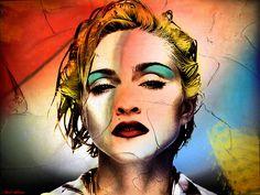Madonna Portrait Canvas Prints and Madonna Portrait Canvas Art for ...